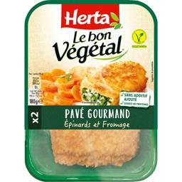 Herta Le Bon Végétal - Pavé Gourmand épinards et fromage