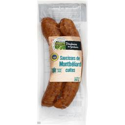 Véritables Saucisses de Montbéliard cuites à l'ancie...
