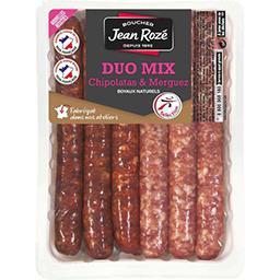 Jean Rozé Duo Mix chipolatas & merguez la barquette de 300 g