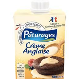 Crème anglaise prête à l'emploi,PATURAGES,la brique de 50 cl