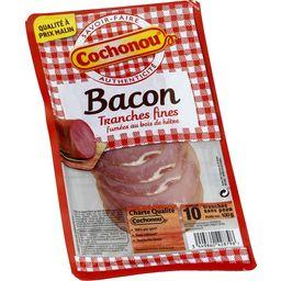 Bacon tranches fines