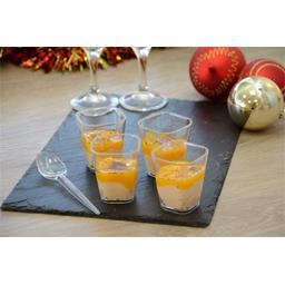 Verrines bloc de foie gras de canard chutney mangue ananas
