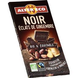 Chocolat noir éclats de gingembre BIO & équitable