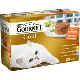 Gourmet Gold - Les Timbales 4 variétés viandes & poissons po... les 12 timbales de 85 g