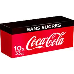 Coca Cola Zero - Soda au cola Zéro calorie Frigo Pack