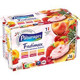 Yaourt aux bons morceaux de fruits assortis