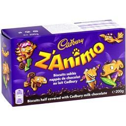 Biscuits sablés Z'animo nappés chocolat au lait
