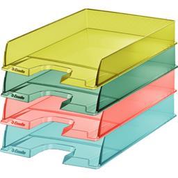 Corbeille courrier Colour Ice coloris assortis