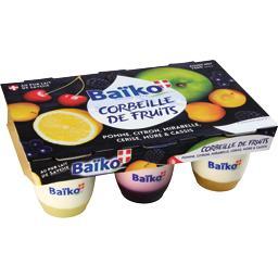 Assortiment de yaourts Corbeille de Fruits