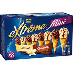 Mini glaces vanille/chocolat