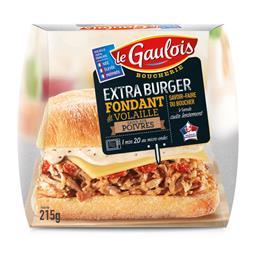 Extra Burger fondant de volaille sauce au poivre
