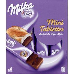 Mini tablettes au lait du pays alpin