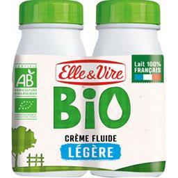 Elle & Vire Crème fluide légère BIO les 2 briques de 25 cl