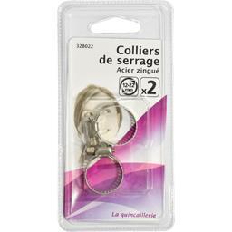Colliers de serrage acier zingué 12-22mm