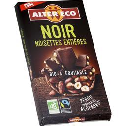 Chocolat noir noisettes entières BIO & équitable