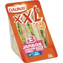Daunat XXL - Sandwich pain suédois jambon cheddar salade