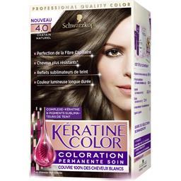 Coloration 4,0 châtain naturel - Kératine Color
