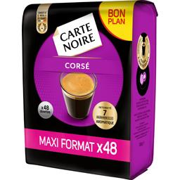 Carte Noire Dosettes de café Corsé intensité 7