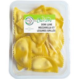 L'Italie du Bien-être Demi lune mozzarella et légumes grillés la barquette de 250 g