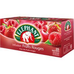 Infusion Fruits Rouges avec des fruits rouges