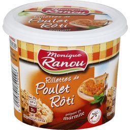 Rillettes de poulet rôti préparé en marmite