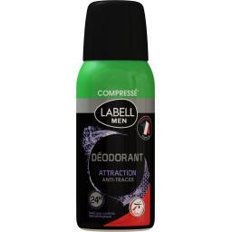 Labell Men - Déodorant compressé 24 h Attraction anti-trace... la bombe de 100 ml