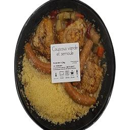 Notre sélection Couscous viande et semoule La barquette d'1,2 kg
