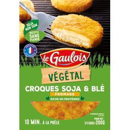 Végétal - Croques soja & blé fromage