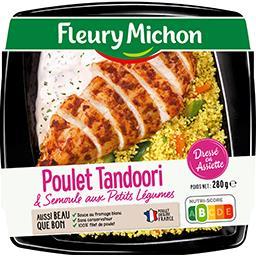 Poulet Tandoori, semoule aux petits légumes