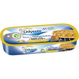Odyssée Filets de maquereaux grillés au miel et au thym la boite de 120 g