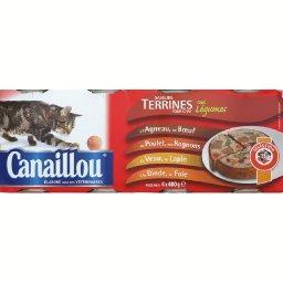 Saveurs terrines aux légumes pour chat, agneau/bœuf,...