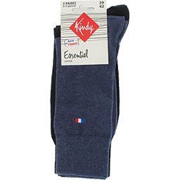 Chaussettes Essentiel coton 43-46 jean/noir