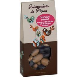 Croq'œufs chocolat amande enrobée chocolat spéculoos nougat