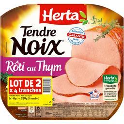 Tendre Noix Thym - Lot de 2 x 4 tranches, soit 280 g Tendre Noix Thym - Lot de 2 x 4 tranches, soit 280 g