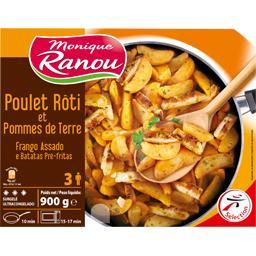 Poulet rôti et pommes de terre