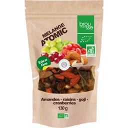 Brousse vergez Mélange Atomic amandes raisins goji cranberries BIO le sachet de 130 g