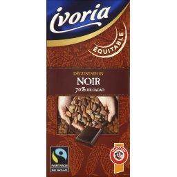 Dégustation, chocolat noir 70% de cacao, commerce équitable