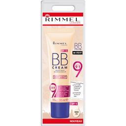 Rimmel London Baume de beauté BB Cream 9en1 000 Very Light le tube de 30 ml