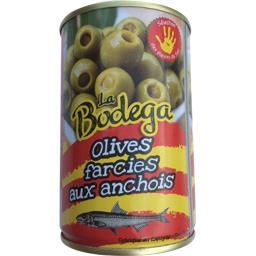 Bodéga Olives farcies aux anchois La boîte de 130 gr