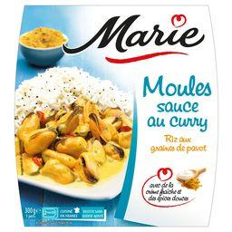 Moules sauce au curry riz aux graines de pavot