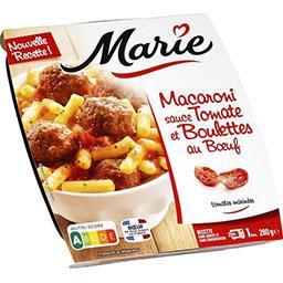 Macaroni sauce tomate et boulettes au bœuf