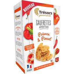 Trésors Gourmands Gaufrettes apéritives poivron & piment la boite de 60 g