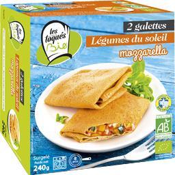 Les Toqués Bio Galettes légumes du soleil mozzarella BIO la boite de 2 - 240 g