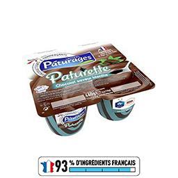 Paturette - Crème dessert chocolat saveur menthe