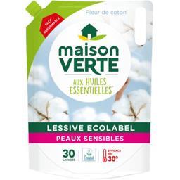 Lessive au savon végétal, peaux sensibles
