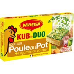 Bouillon Kub Duo poule au pot et légumes du potager