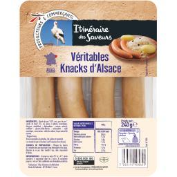Véritables knacks d'Alsace