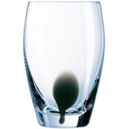 Gobelet forme haute 35 cl Drip noir transparent goutte noire