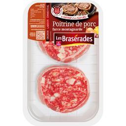 Les Brasérades Poitrine de porc farce montagnarde la barquette de 2 - 250 g