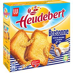 LU Heudebert Biscotte La Bretonne saveur beurre & pointe de sel